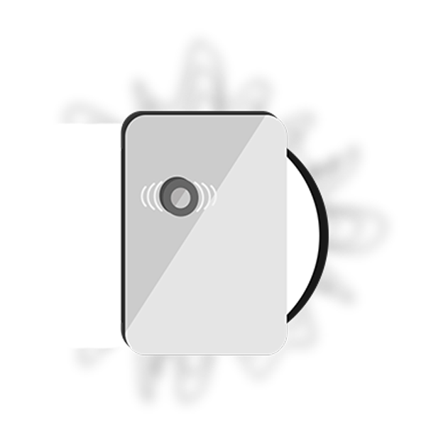 illustration of rectangular sound device